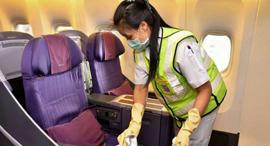 נגיף קורונה חברות תעופה חיטוי טיסות 2, צילום: AFP