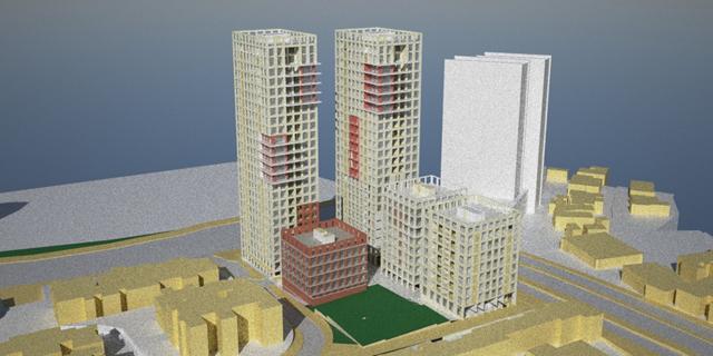 אושרה תוכנית בצומת פת בירושלים - במקום החניון הפתוח יוקמו מגדלים של 30 קומות