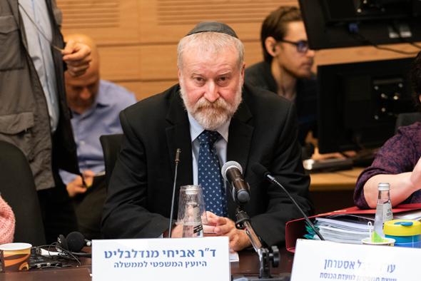 """היועמ""""ש אביחי מנדלבליט בדיון היום בוועדת הכנסת, צילום: שלו שלום"""
