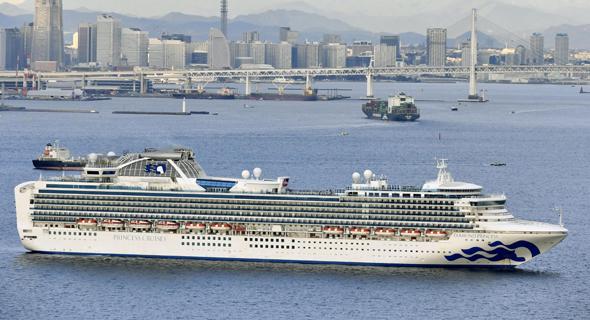 ספינת התענוגות diamond princess ליד יוקוהומה, יפן
