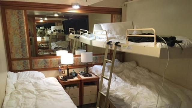 חדר בספינת הקורונה , צילום: רויטרס