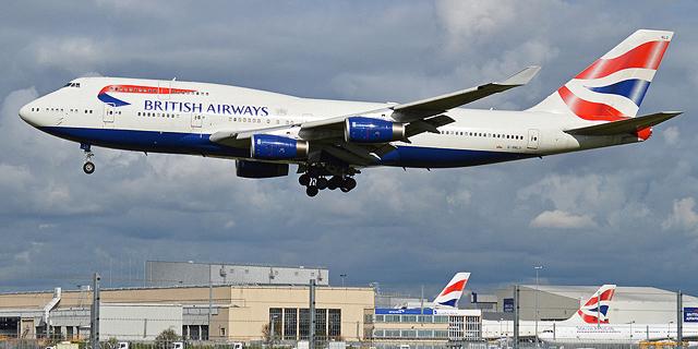 הקורונה מקרקעת את הג'מבו: בריטיש איירווייס תפסיק להטיס בואינג 747