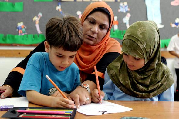 תלמידים במגזר הערבי, צילום: עמית מגל