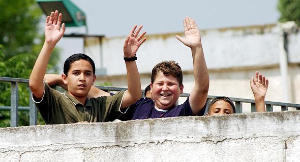 תלמידים בבית ספר בבקה אל גרביה (ארכיון)