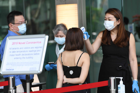בדיקות קורונה בסינגפור