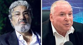 מימין: דוד אמסלם, שר התקשורת, וחזי בצלאל, בעל השליטה באקספון, צילומים: אביאור אבו, עמית שעל