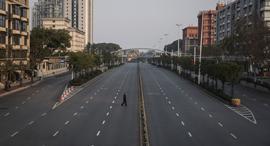 פוטו קורונה רחובות ריקים סין כביש ריק Wuhan, צילום: Getty
