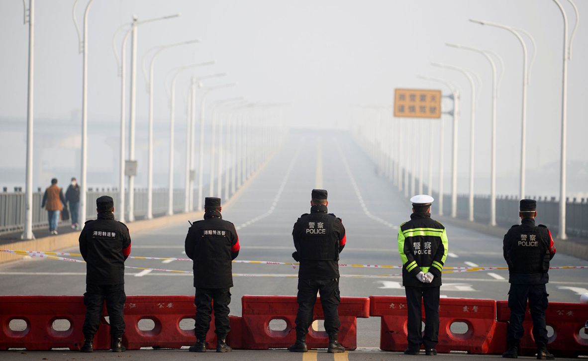 מדינת רפאים: תמונות מרחובות ריקים ברחבי סין בעקבות בהלת הקורונה 6PC