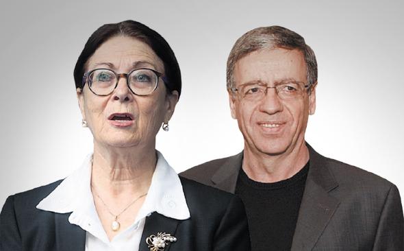 השופט מני מזוז והנשיאה אסתר חיות. הוויכוח הוא על העיקרון, צילומים:  שאול גולן, Marc Israel; Sellem