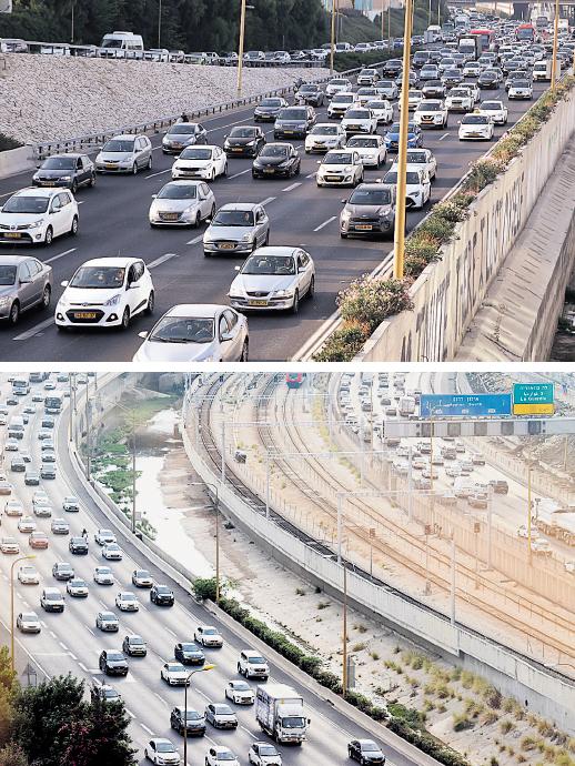 עומס בכבישים. היעד: ניטור כלל הרכבים בישראל, צילום: יריב כץ, קובי קואנקס
