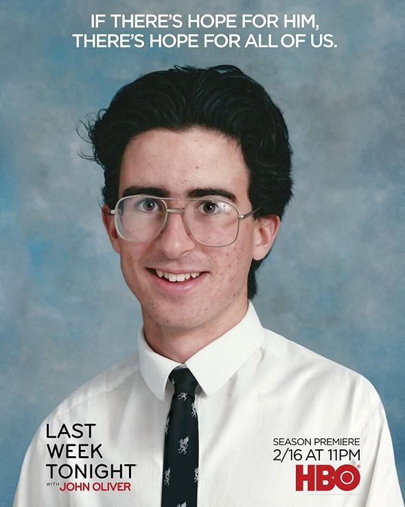 אוליבר בגיל 14 בכרזה לעונה החדשה.