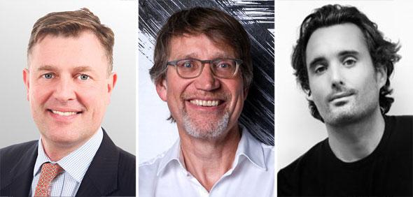 Marcel 'Otto' Yon (left), Uli Schmitz, and Gregory Dewerpe. Photo: PR