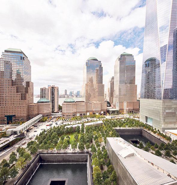 האנדרטה במרכז הסחר העולמי בניו יורק
