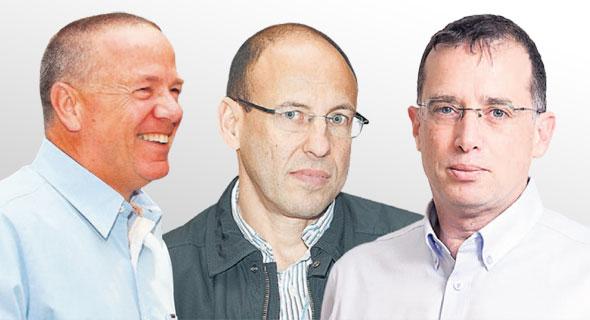 """מימין: מנכ""""ל פלאפון רן גוראון מנכ""""ל גולן גיל שרון ויו""""ר בזק שלמה רודב"""