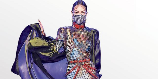 שבוע האופנה בשנגחאי נדחה, בלונדון וניו יורק עוטים מסכות מעוצבות