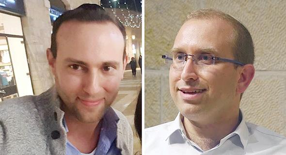 """מימין עו""""ד גיל ברינגר ואלון דביר יועץ ועוזר של איילת שקד"""