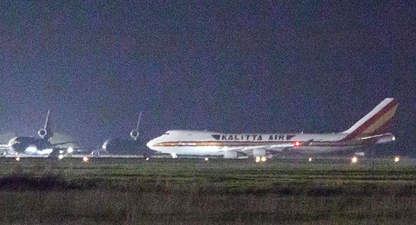 """מטוס ועליו נוסעים אמריקאים מספינת קורנה בדרך לארה""""ב"""
