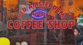 קופי שופ אמסטרדם מריחואנה תיירות, צילום: AFP