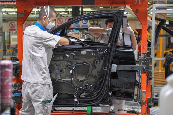 מפעל רכב בסין