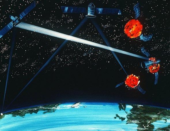 אילוסטרציית מלחמה בחלל , צילום: wikimedia