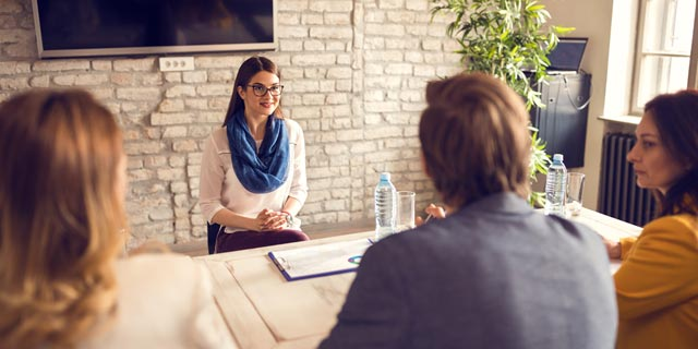 A job candidate being interviewed Photo: Shutterstock