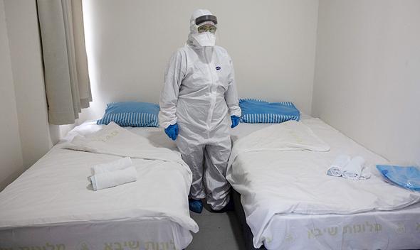 הבידוד בבית החולים שיבא, צילום: איי אף פי