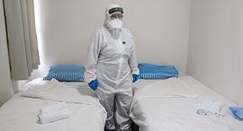 בית חולים שיבא תל השומר בידוד קורונה הקורונה וירוס נגיף מ יפן ספינת דיימונד פרינסס, צילום: איי אף פי