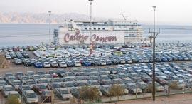 כלי רכב חדשים בנמל אילת, צילום: יוסי דוס סנטוס