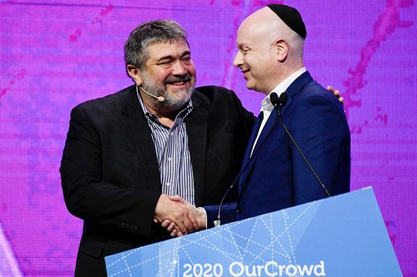 ג'ייסון גרינבלט וג'ון מדבד מנכ''ל OurCrowd, צילום: OurCrowd