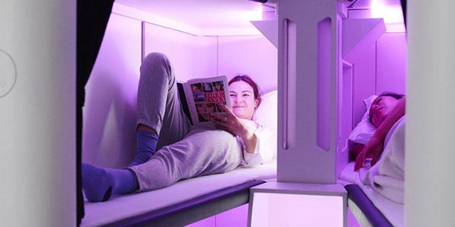 כבר לא דמיוני: לטוס במחלקת תיירים - ולקבל תא שינה פרטי