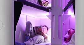 אייר ניו זילנד Skynest אקונומי סקיינסט פוד שינה מחלקת תיירים 1, צילום: Air New Zealand