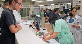 Hospital patients. Photo: Amit Sha'al