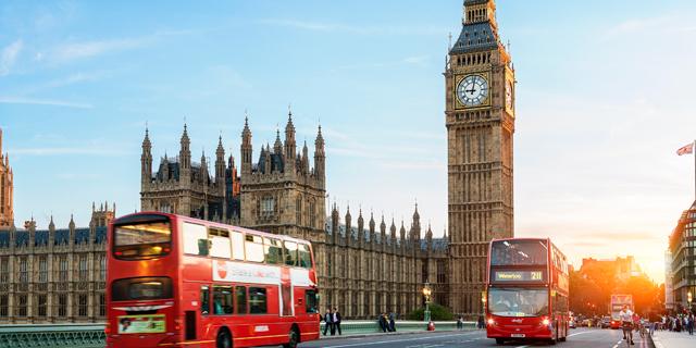 רחוב לונדון אנגליה אוטובוס אדום, צילום: Shutterstock