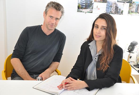 """הילה סימון (מימין), ואיל מושלין. """"אין בישראל משבר דיור – יש משבר תכנון"""""""