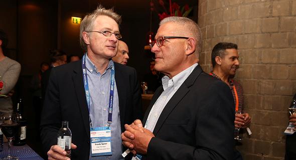 רון בארי ופרנק שפיר, צילום: אוראל כהן