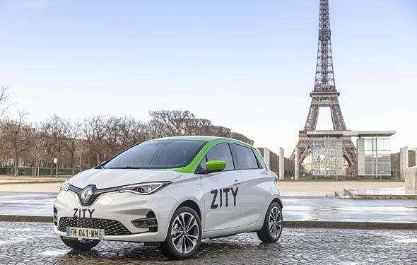 ZITY שירות שיתוף רכב חשמלי של רנו בפריז