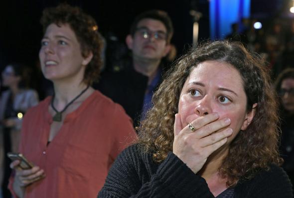 אכזבה במטה כחול לבן, צילום: AFP