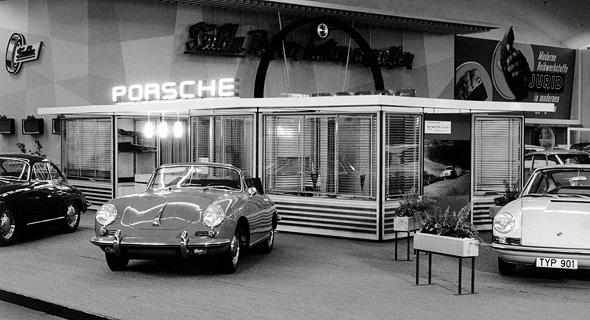 תערוכת רכב בפרנקפורט בשנות ה-60, צילום: פורשה