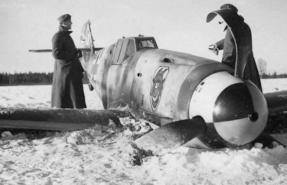 מסרשמיט 109 שהופל בחזית המזרחית