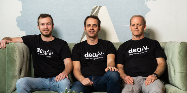 Deci co-founders Jonathan Elial, Yonatan Geifman, and Ran El-Yaniv. Photo: Deci