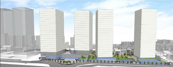 הדמיית המגדלים, הדמיה: רכטר  אדריכלים