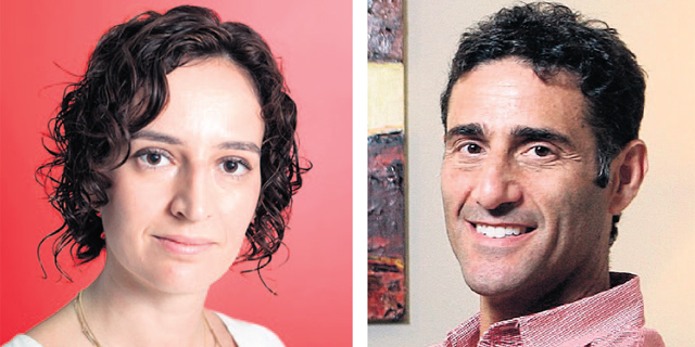 Eynat Guez (left), and Boaz Dinte. Photo: Amit Sha