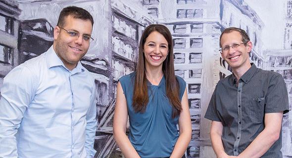 Hailo co-founders Orr Danon (left), Hadar Zeitlin and Avi Baum. Photo: Eran Tayree