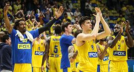 כדורסל יורוליג מכבי תל אביב נגד אפס אנאדולו איסטנבול קורונה, צילום: עוז מועלם