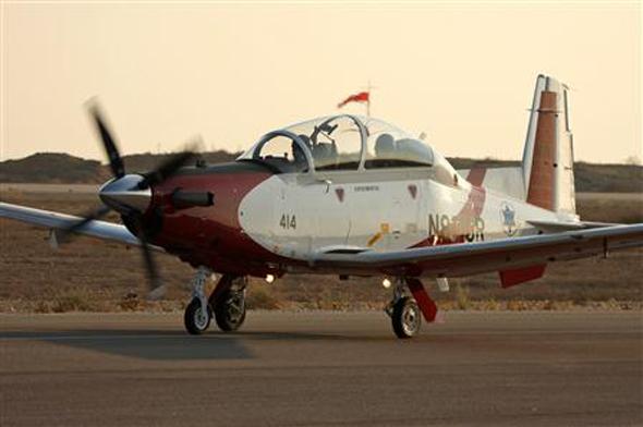 """מטוס """"עפרוני"""", בבית הספר לטיסה של חיל האוויר, צלום: אתר חיל האוויר"""