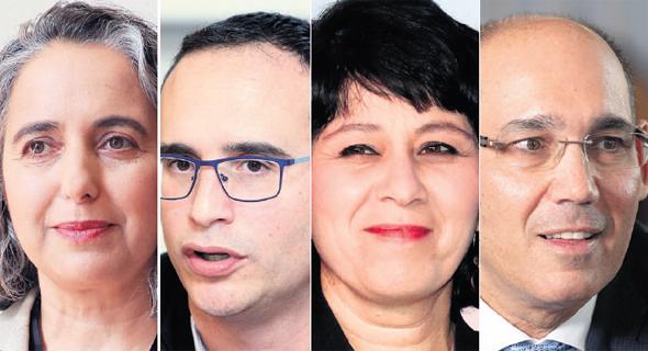 מימין: אמיר ירון, חדוה בר, איתי בן זאב וענת גואטה , צילומים: אלכס קולומויסקי, אוראל כהן, יריב כץ