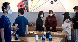 חנות של אפל בייג'ינג סין קורונה וירוס, צילום: איי אף פי