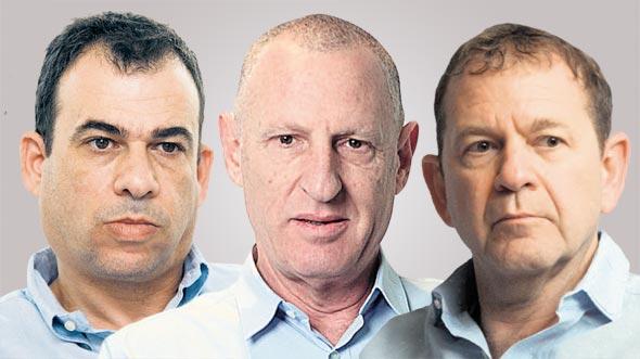 מימין: אורי סירקיס, ליאור רביב ורונן קרסו