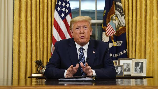"""נשיא ארה""""ב דונלד טראמפ. הכריז על הפסקת המימון לארגון הבריאות העולמי"""