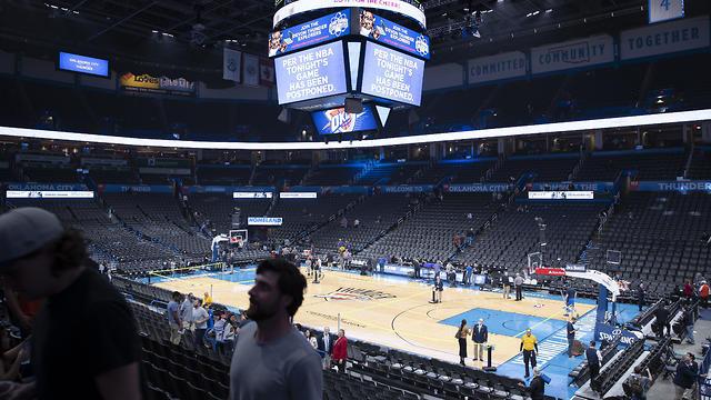 ביטול משחק ב-NBA, בתחילת המשבר, צילום: רויטרס